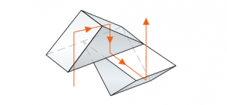 The Porro prism is easy to produce, but quite large and heavy due to its design.