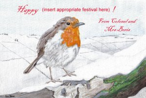 Happy non-denominational winter festivities card